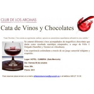 Cata de Vinos y Chocolates